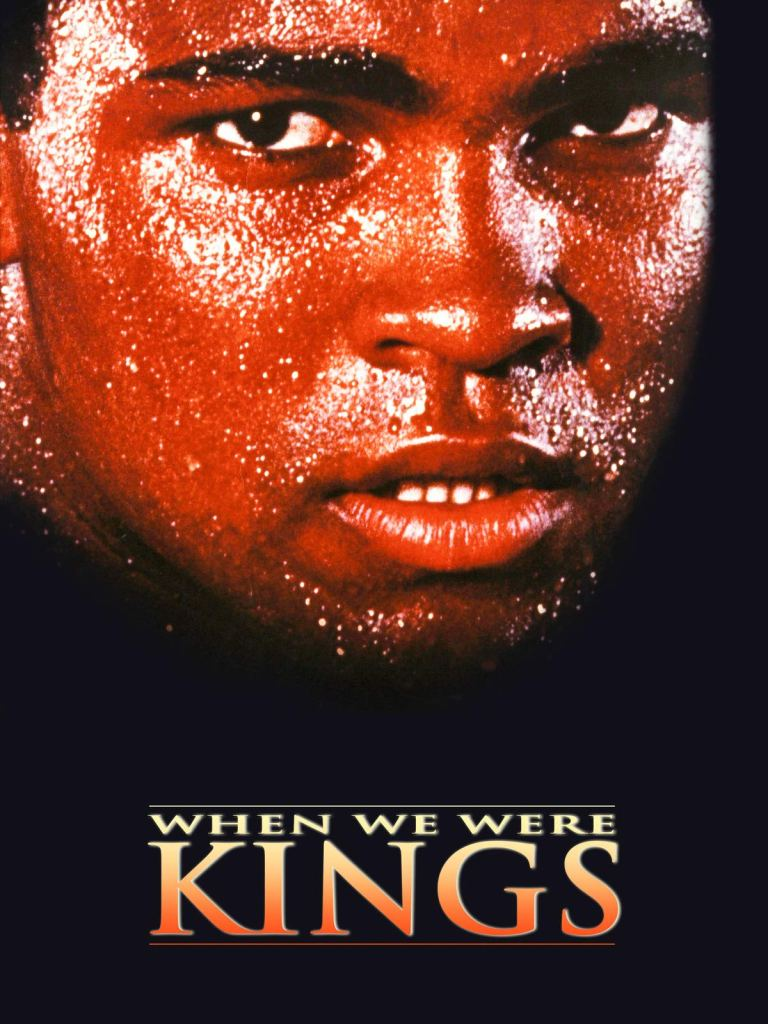 The DVD cover of Oscar winning documentary 'When We Were Kings' shows Muhammad Ali drenched in sweat and looking very serious